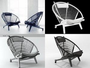 pp130 circle chair 3D