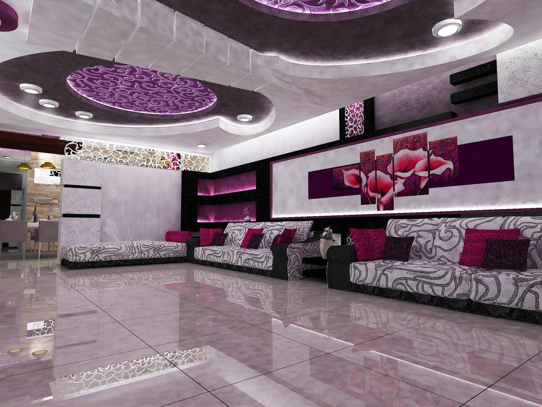 3D artistic home interior model