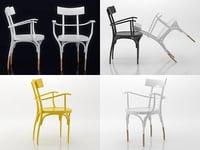czech armchair 3D