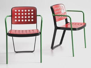 3D la warr pavilion chair