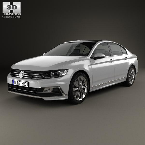 2015 Volkswagen Passat Tdi: Volkswagen Passat B8 3D Model
