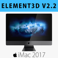 E3D - Apple iMac Pro 2017 27 Inches model