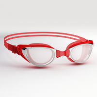 swim goggles red 3D model
