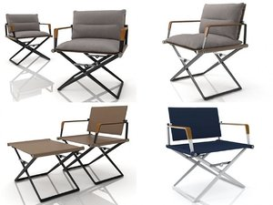 3D seax lounge chair model