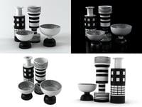 black white 3D