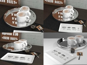 3D shiny coffee refresh