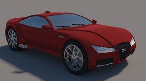 3D audi s8 model