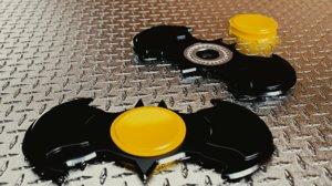 3D fidget spinner hand model