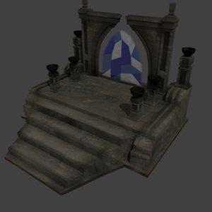 antique portal model