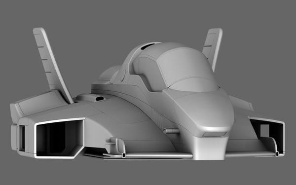 3D future race car