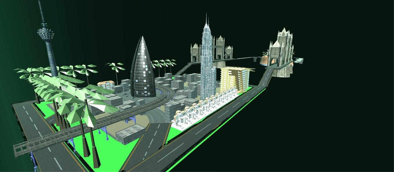 city cityscape optimized 3D