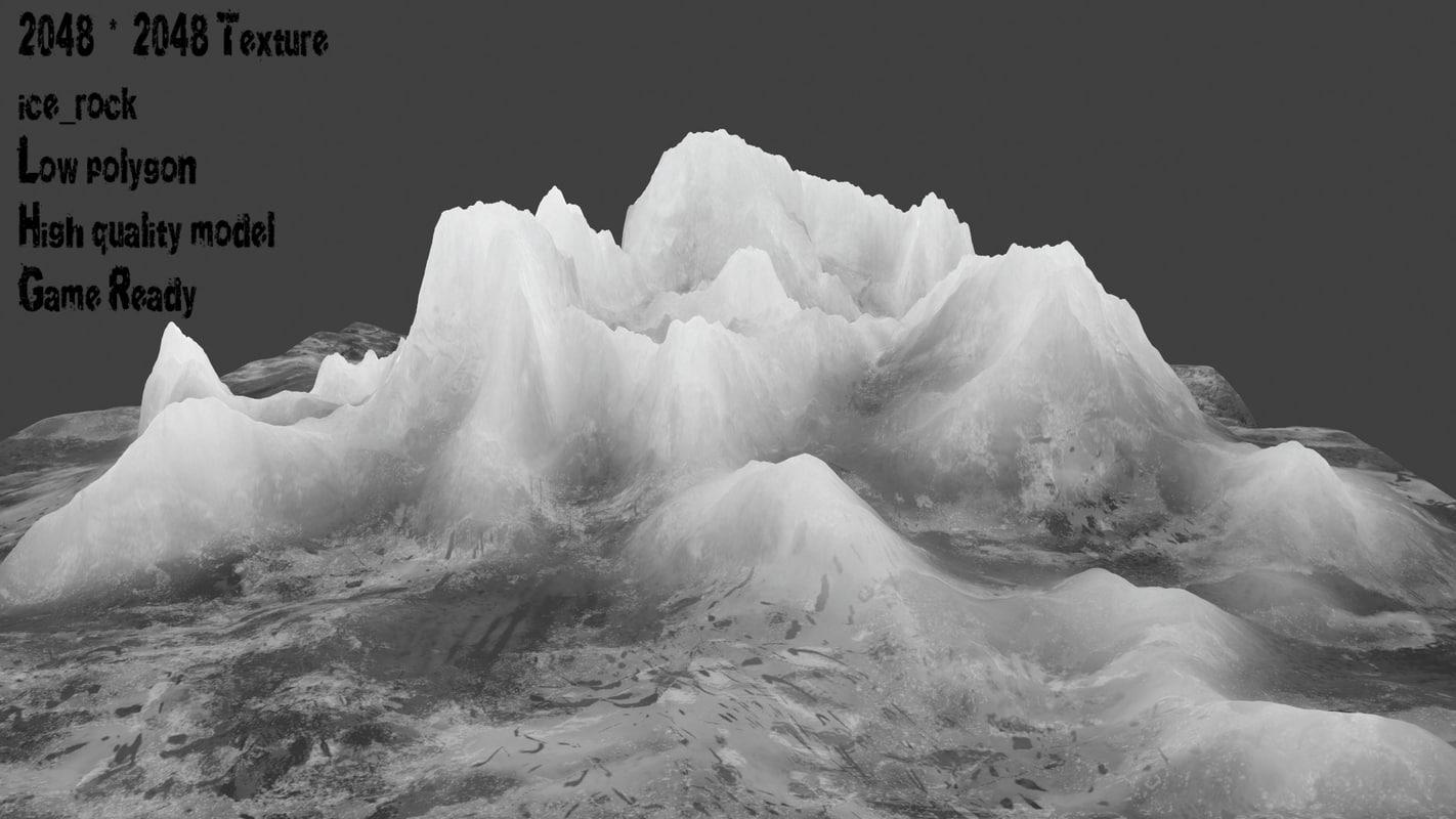 snow mountain model