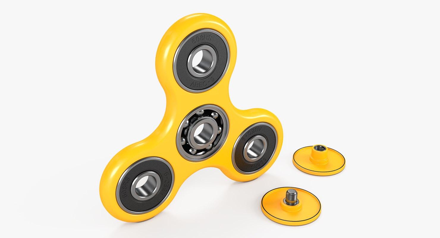 fidget spinner yellow model
