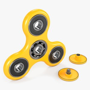 fidget spinner yellow model