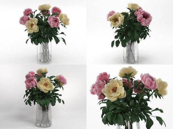 3D model flowers 03