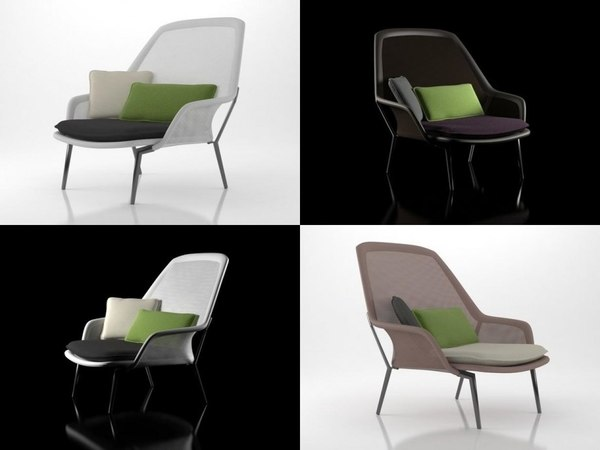 slow chair vitra 3D model