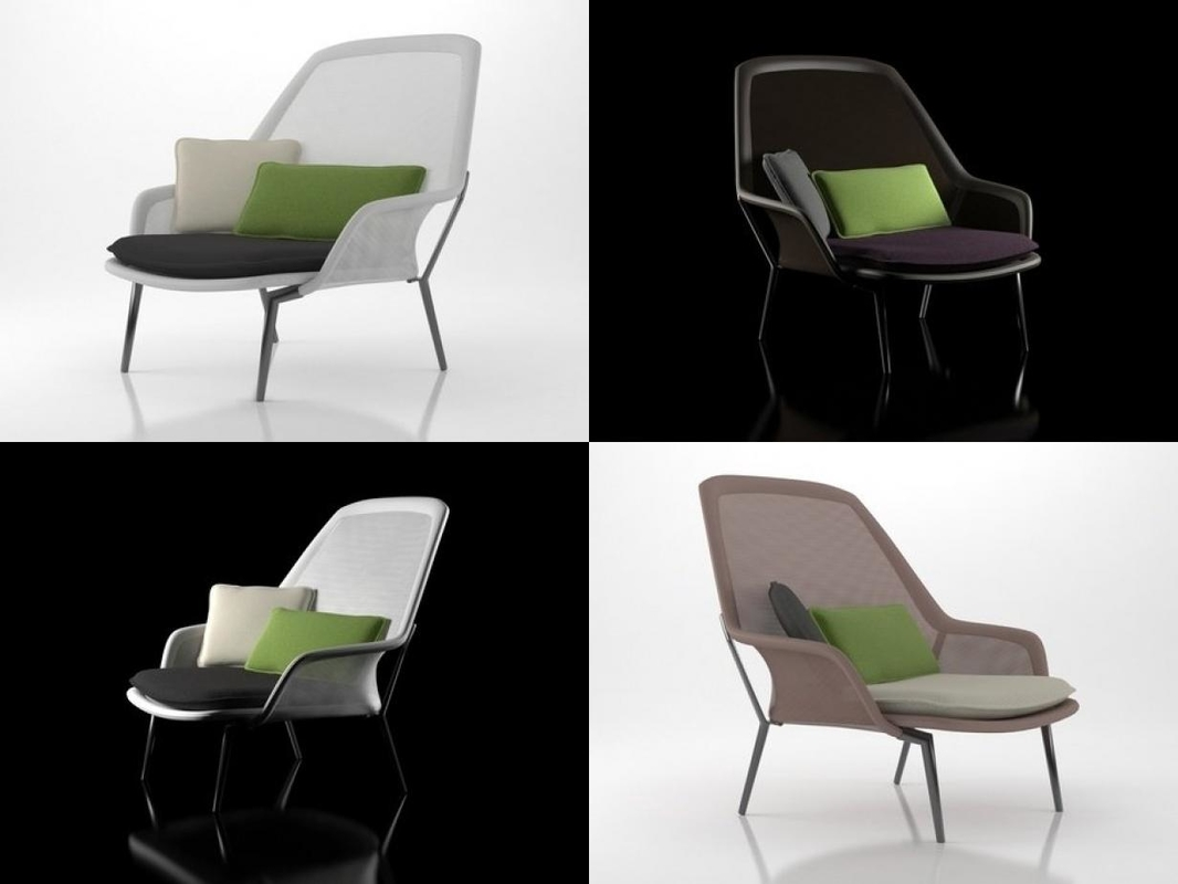 slow chair vitra 3D model