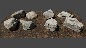 boulders scanned ground 3D