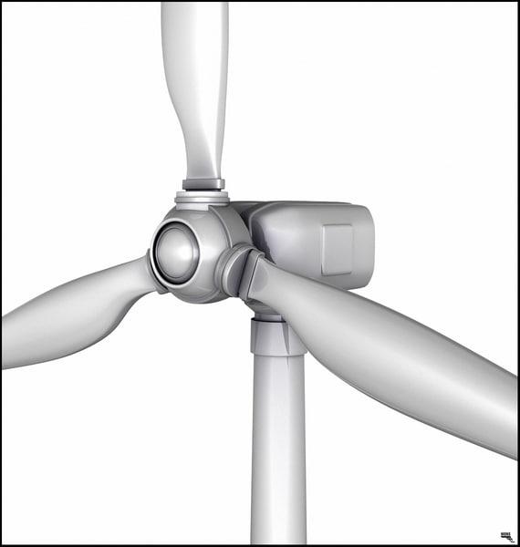 turbine wind 3D model