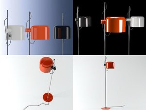 3D coupe floor lamp