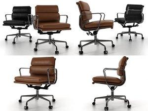 eames soft pad chair vitra 3D model