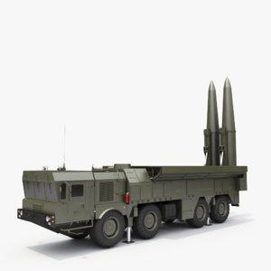 iskander ss-26 stone 3D model