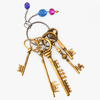 keys keychain 3D model