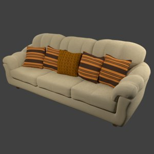 3D sculpt sofa pillows -