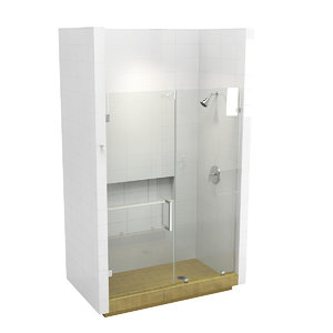 shower cabin custom 3D model