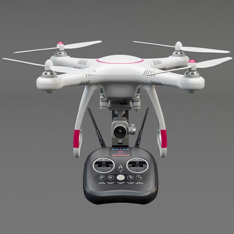 Autel Robotics X Star Drone 3d Model Turbosquid 1176677