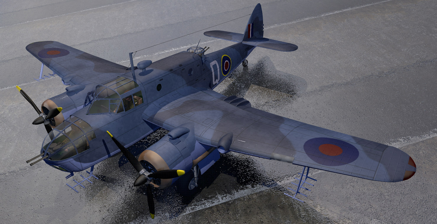 plane bristol beaufort mk-2a 3D model