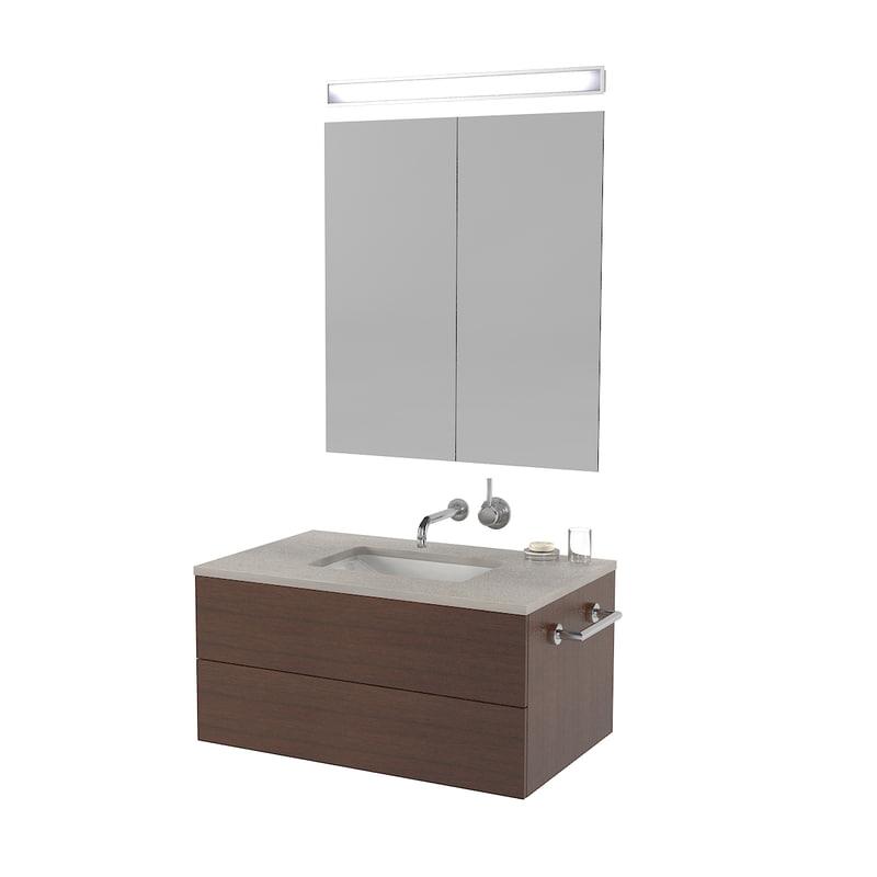 3D contemporary bathroom furniture model