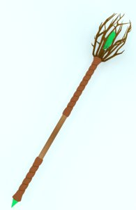 fantasy staff 3D model