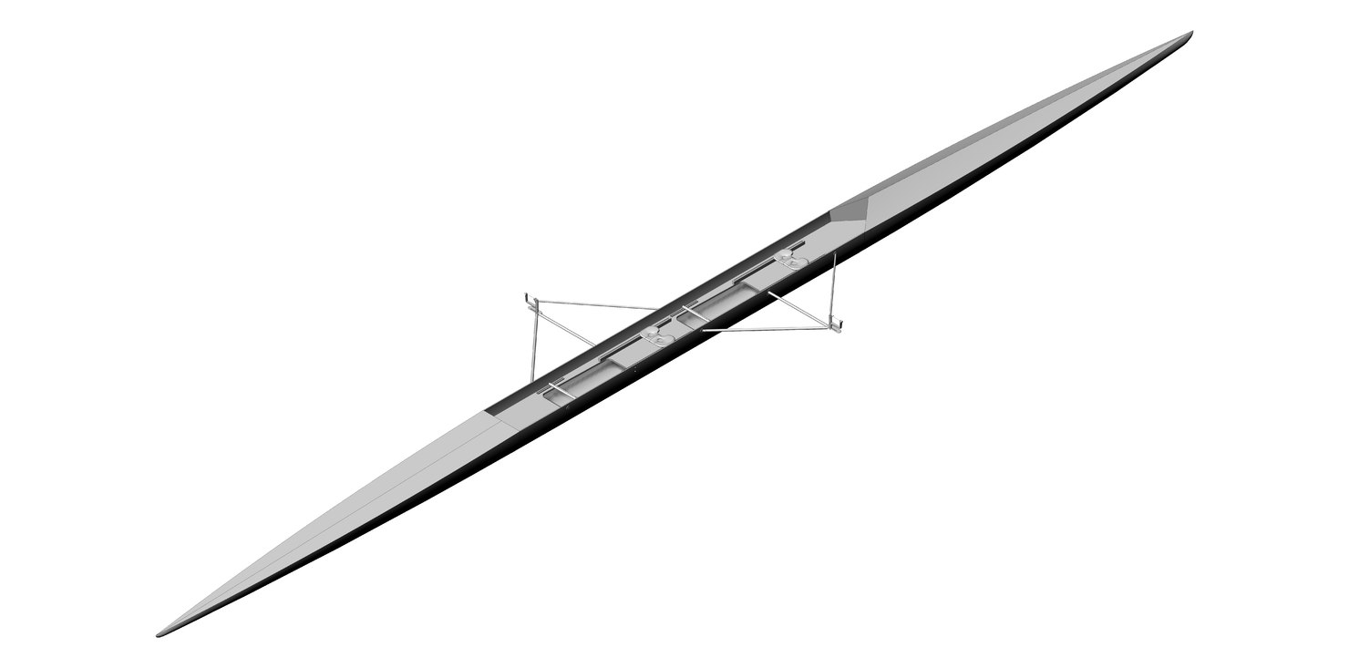 3D model racing shell rowing