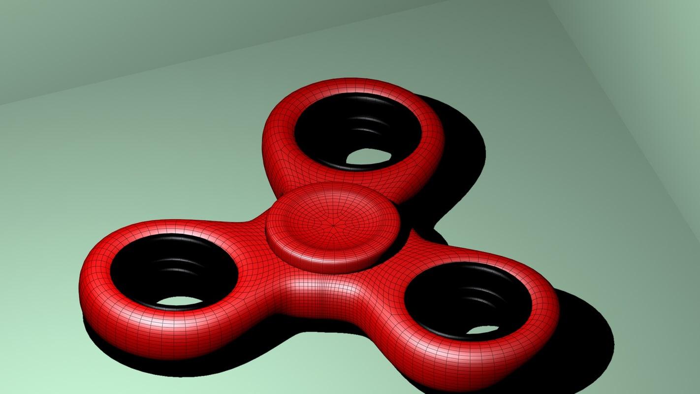 classic fidget spinner 3D model