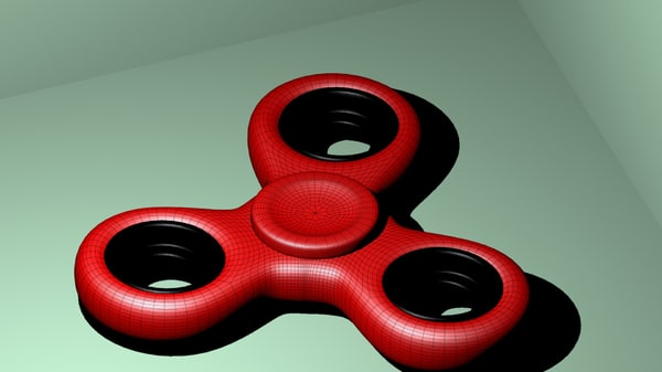 classic fidget spinner 3D model