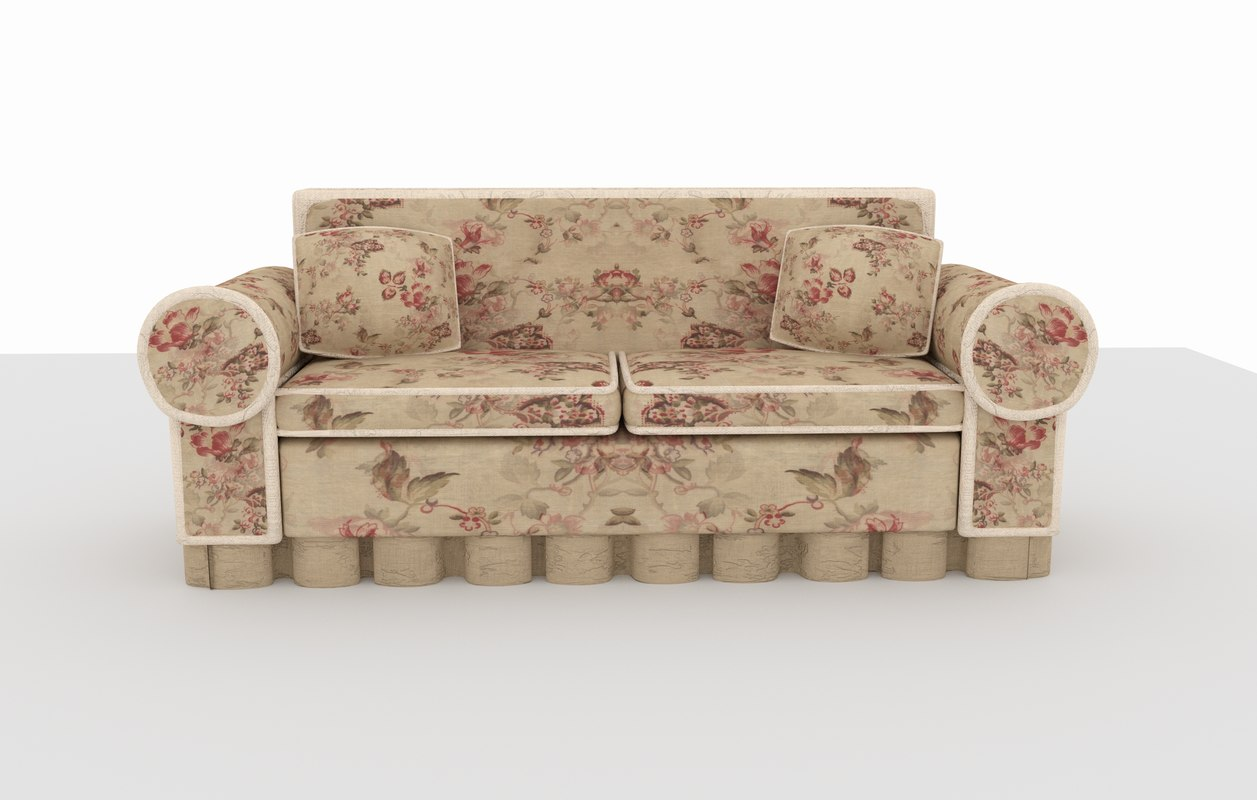 3D old couch