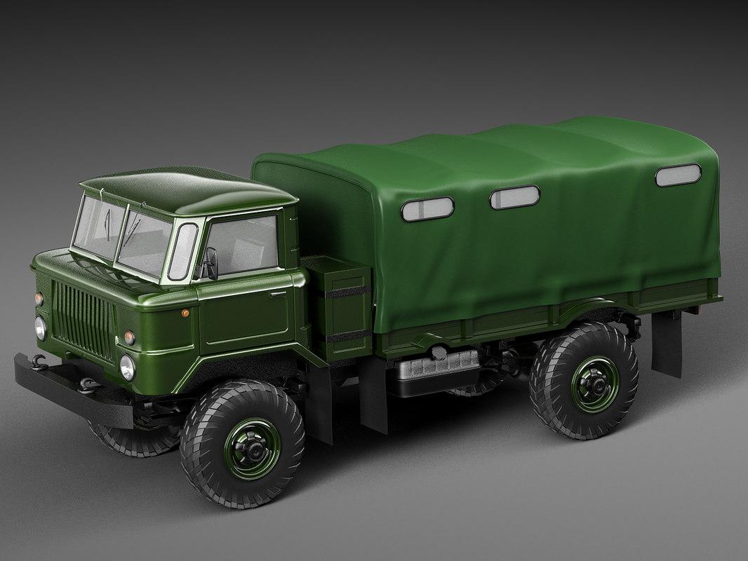 1964 truck ussr 3D model