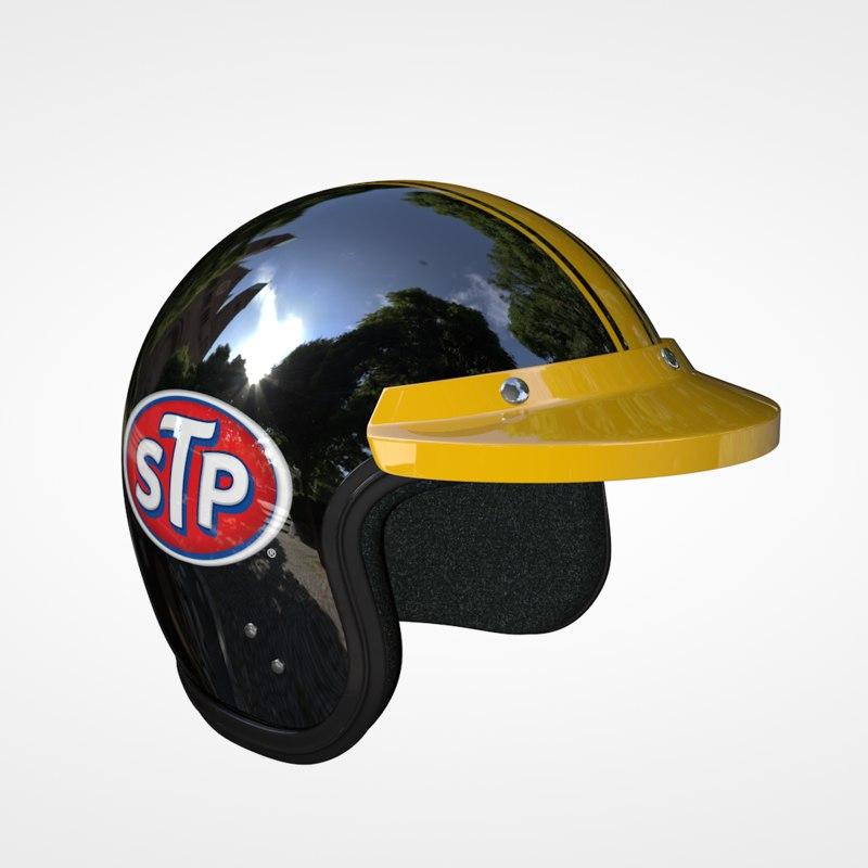 3D classic racing helmet model