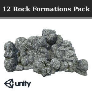3D model pack 12 rock formations