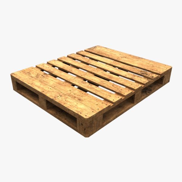 wooden euro pallet model