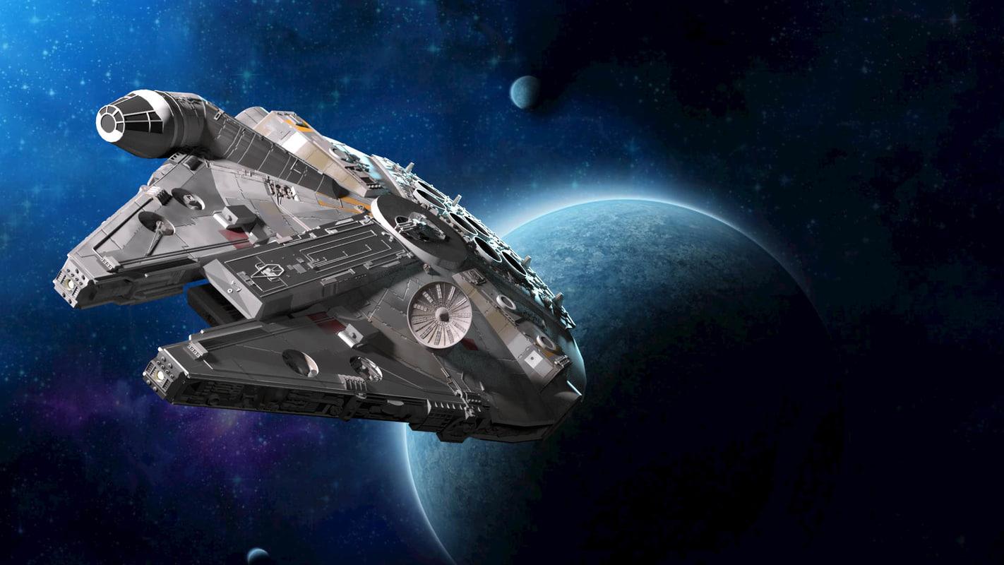 millenium falcon star wars model
