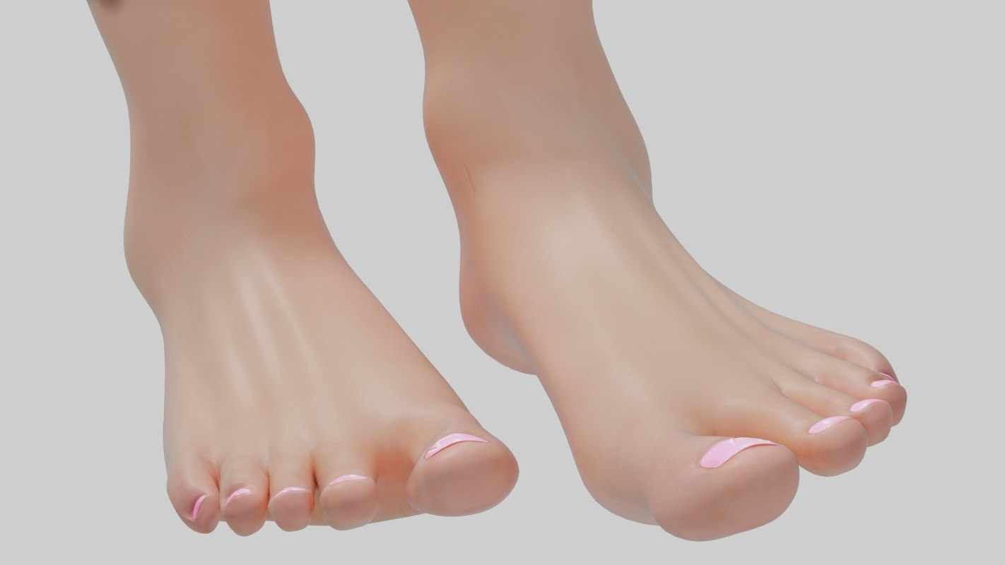 3D model female foot