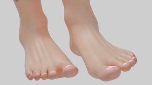3D model female foot