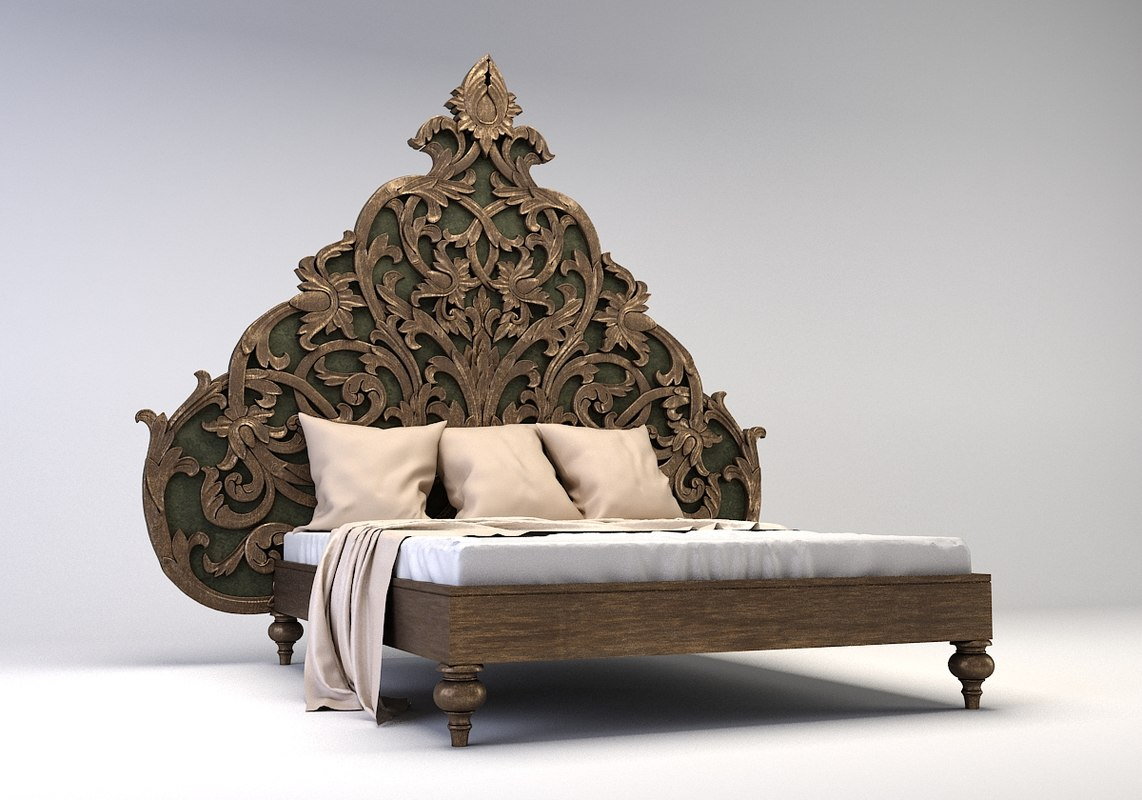 3D bed carved model