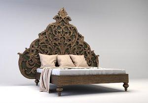 3D bed carved model