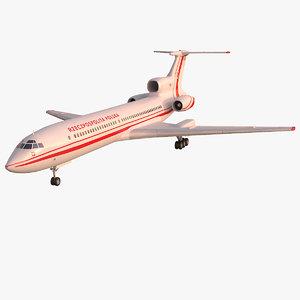 3D model tu-154m poland