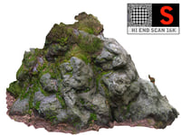 forest rock cliff 16k 3D