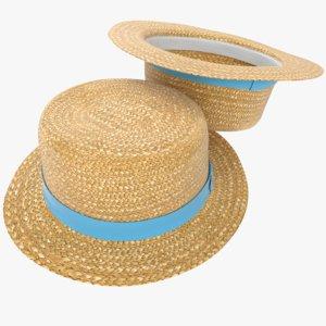 3D straw hat kanotie