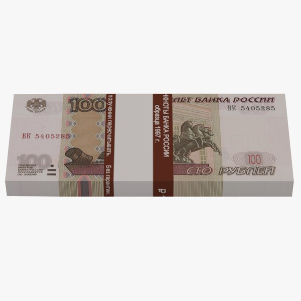 3D bank 100 russian roubles model